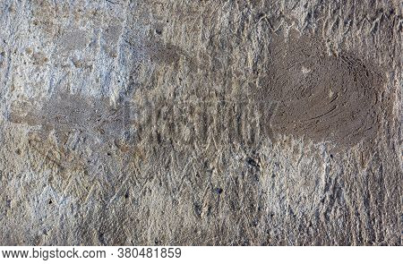Grungy Dark Concrete Wall For Background. Cement Texture Use For Background. Covering The Basement O