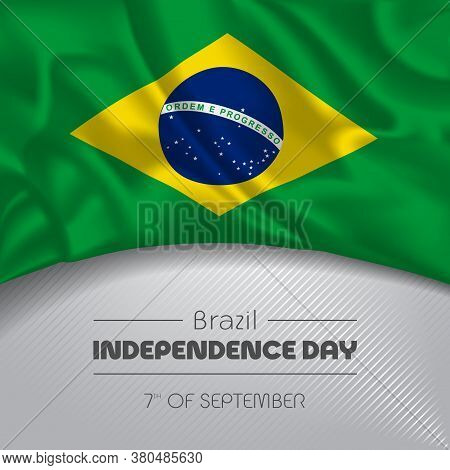 Brazil Happy Independence Day Greeting Card, Banner, Vector Illustration
