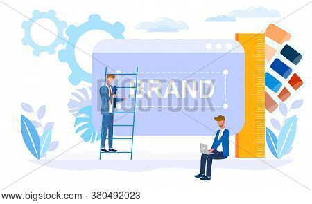 Corporate Identity Vector Illustration. Concept Of Successful Business Company With Many Ideas