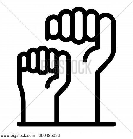 Fist Empowerment Icon. Outline Fist Empowerment Vector Icon For Web Design Isolated On White Backgro