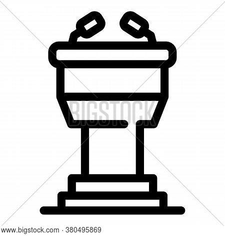 Empowerment Speaker Tribune Icon. Outline Empowerment Speaker Tribune Vector Icon For Web Design Iso