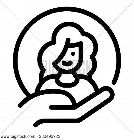 Woman Empowerment Avatar Icon. Outline Woman Empowerment Avatar Vector Icon For Web Design Isolated