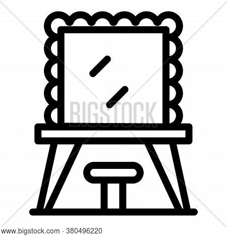 Mirror Actor Dressing Room Icon. Outline Mirror Actor Dressing Room Vector Icon For Web Design Isola