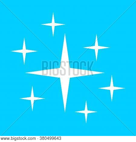 Clean Star Icon. Brilliance Shine Stars Cleanliness Symbol. Clean Vector Sign