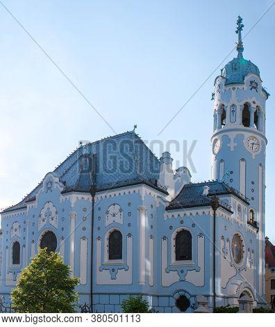 The Blue Church Or St. Elizabeth Or Modry Kostol Svatej Alzbety In The Old Town In Bratislava, Slova