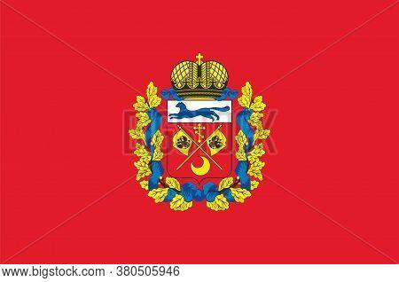 Flag Of Orenburg Oblast Of Russian Federation
