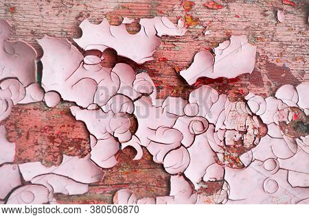Texture background - peeling paint on the old rough concrete surface, peeling paint texture, texture surface, peeling paint texture background.