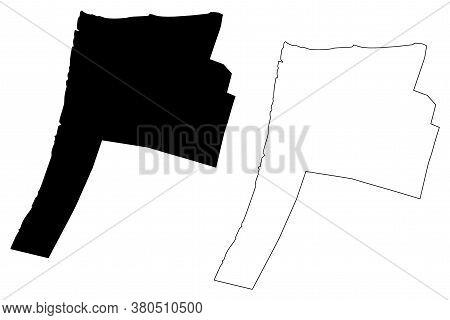 Georgetown City (co-operative Republic Of Guyana, Demerara-mahaica Region) Map Vector Illustration,