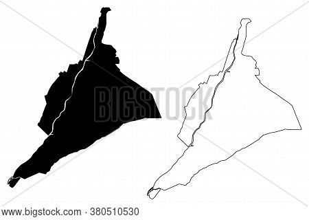 Arequipa City (republic Of Peru, Department Of Arequipa) Map Vector Illustration, Scribble Sketch Ci