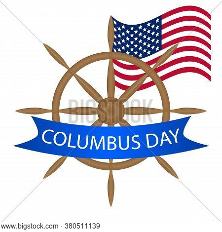 Helm For Columbus Day, Vector Art Illustration.