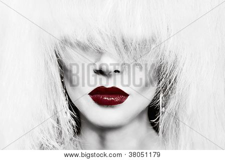Hair And Lips Concept