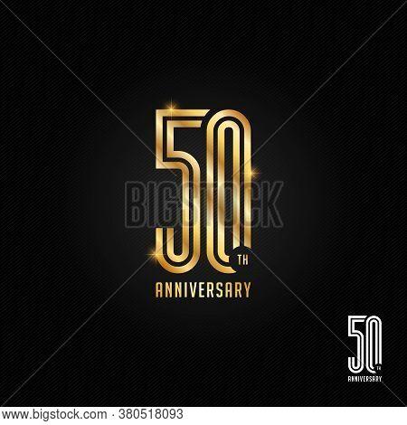 50 Years Anniversary Logo, Icon And Symbol Vector Illustration