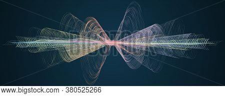 Waveform Soundwave Smooth Curved Lines Abstract Design Element Technology Background With Waveform L