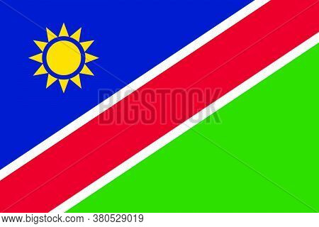 Flag Of Namibia Vector Illustration As Background
