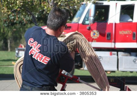 Rolling Up The Water Hose