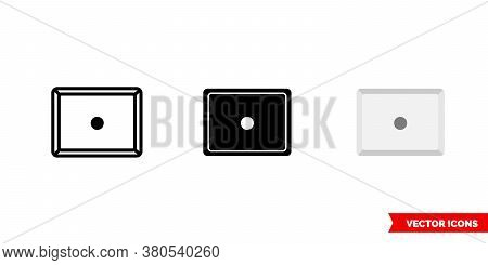 Period Symbol Icon Of 3 Types Color, Black And White, Outline. Isolated Vector Sign Symbol.