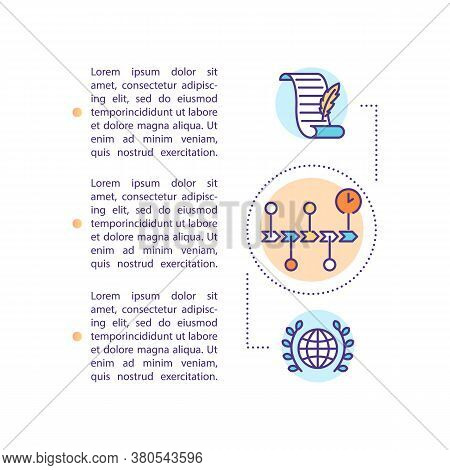 Human Rights Evolution Concept Icon With Text. Universal Declaration. International Document. Ppt Pa