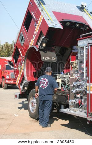 Checking Out The Firetruck