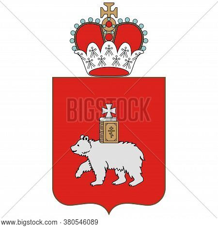 Coat Of Arms Of Perm Krai Of Russian Federation
