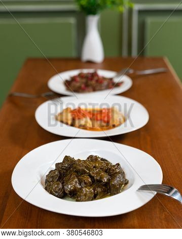 Beautiful Dolma Meat Meal Close Up With Isolated Background