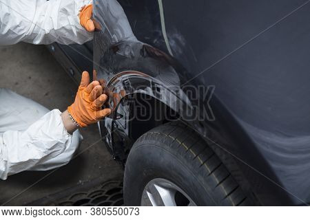 Body Work Of The Car. Car Repair After An Accident.