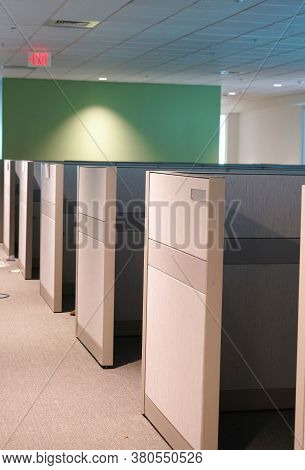 Office Cubicles During Innovation Inside The Office Building