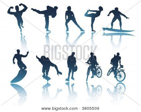 Sports & Fitness Silhouettes
