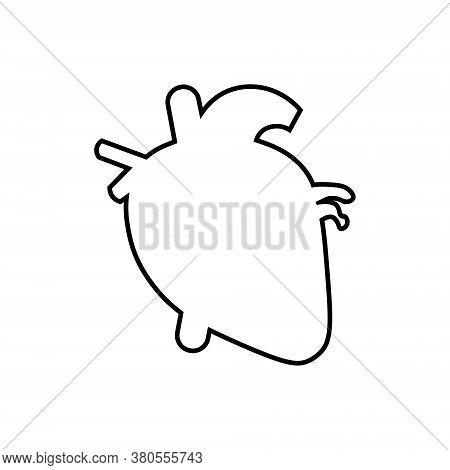 Heart Outline Icon. Symbol, Logo Illustration For Mobile Concept And Web Design.