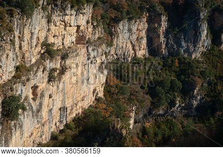 Viandico Ravine In The Pyrenees Of Huesca.
