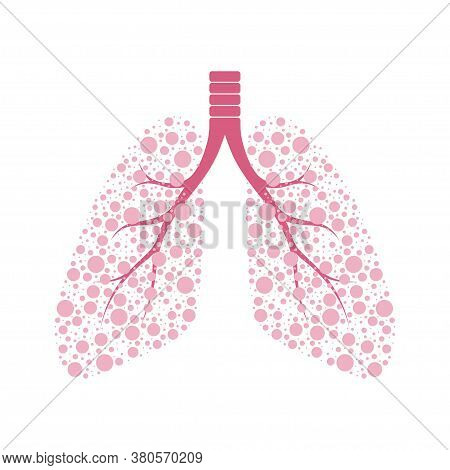 Healthy Human Lungs. Internal Organs Vector Illustration
