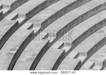 Stairs forming a high contrast black and white pattern poster