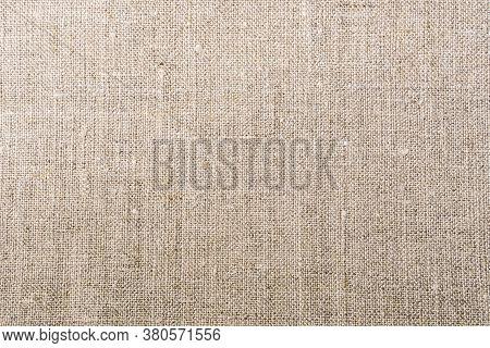 Rough Fabric With Uneven Texture, Burlap Material.
