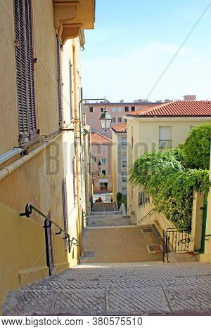 Cannes, France - August 6, 2013: Picturesque Narrow Streets In The Old Town