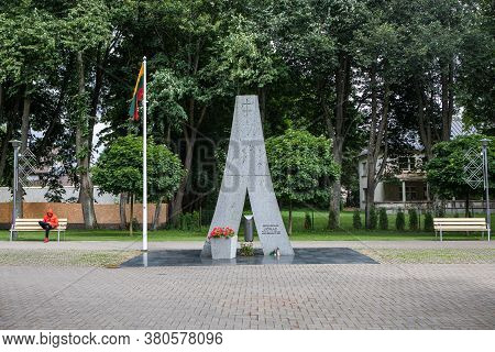 Palanga, Lithuania - July 11, 2020: Monument Dedicated To Jonas Zemaitis-vytautas, Lithuanian Presid