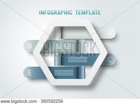 Vector Infographic Template With 3d Paper Label, Integrated Circles. Business Concept With 4 Options
