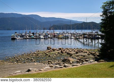 Deep Cove Marina North Vancouver. The Deep Cove Marina On Indian Arm. North Vancouver, British Colum