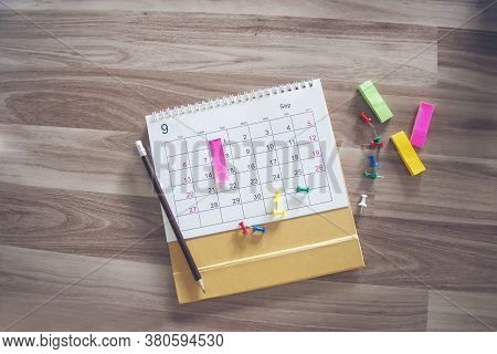 Pins On Calendar For Planner And Organizer To Plan And Reminder Daily Appointment, Meeting Agenda, S
