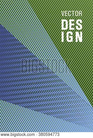 Geometric Banner Flyer Background Vector Template. Plastic Style Cover Template. Marketing Catalog C