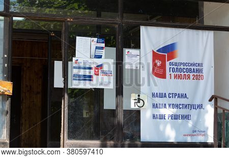 Russia - 26 June 2020. Information Materials About The All-russian Vote On Amendments To The Constit