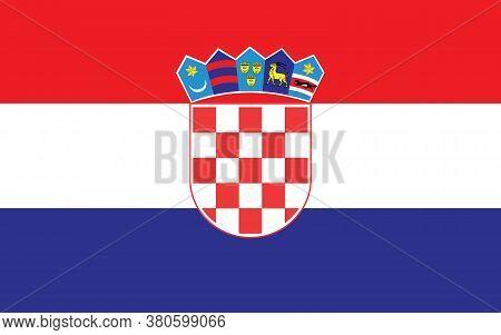 Croatia Flag Vector Graphic. Rectangle Croatian Flag Illustration. Croatia Country Flag Is A Symbol