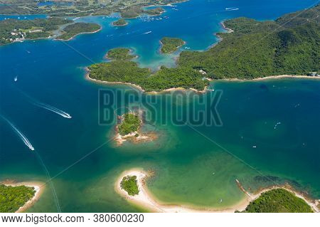 Top view of the beautiful island in Hong Kong sai kung