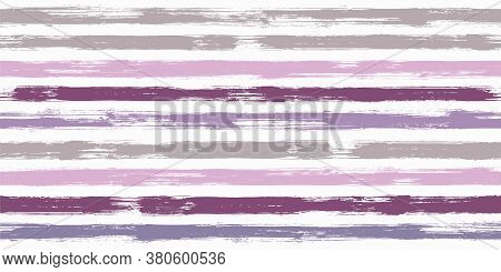 Vintage Watercolor Brush Stripes Seamless Pattern. Ink Paintbrush Lines Horizontal Seamless Texture