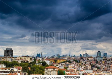 Istanbul cityscape as seen from the Bosphorus