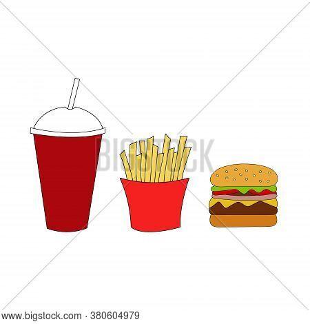 Fast Food. Doodle Element. Fast Food Icon.vector Illustration.