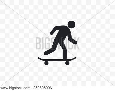 Skateboard, Skateboarder Icon. Vector Illustration, Flat Design.