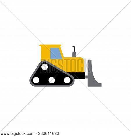Bulldozer Icon Design Template Vector Isolated Illustration
