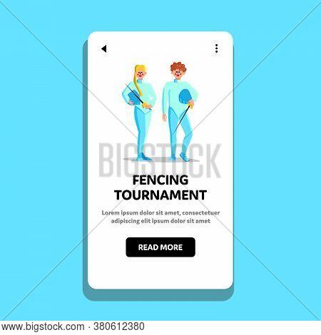 Sport Fencing Tournament And Championship Vector Illustration