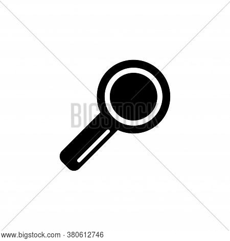 Search Tool, Magnifying Glass, Zoom. Flat Vector Icon Illustration. Simple Black Symbol On White Bac