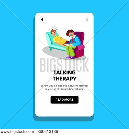 Talking Therapy Session Psychiatry Cabinet Vector Illustration