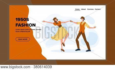 1950s Fashion Dancing Party Leisure Time Vector